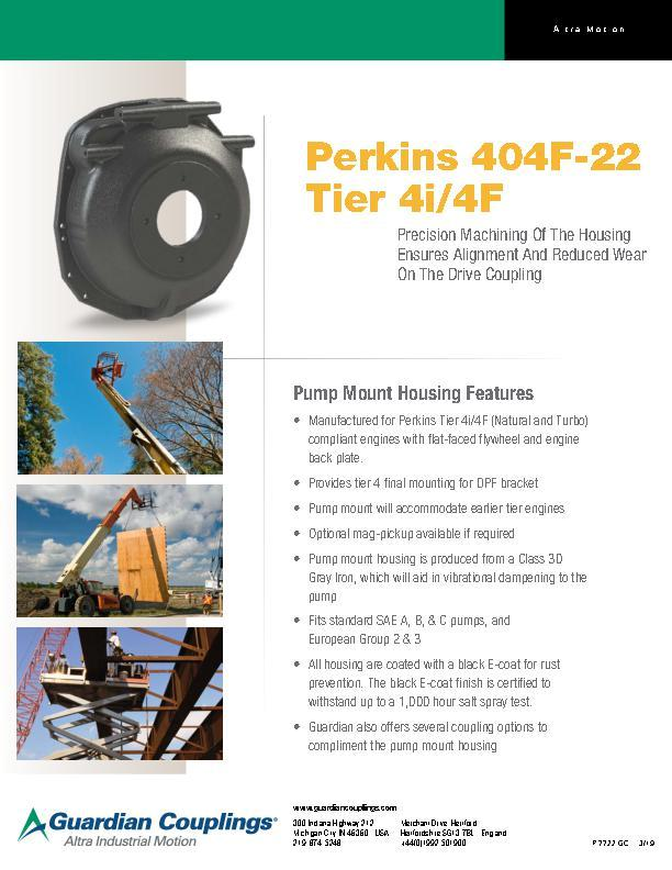Perkins 404F-22 Pump Mount