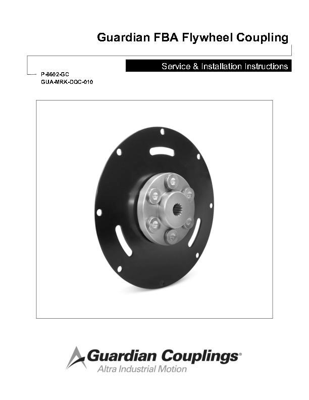 FBA Flywheel Coupling Service & Installation Instructions