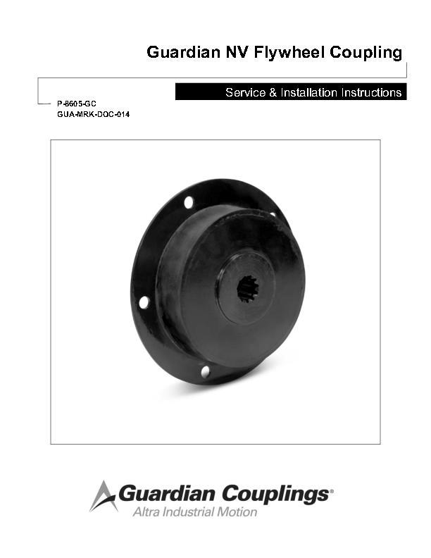 NV Flywheel Coupling Service & Installation Instructions