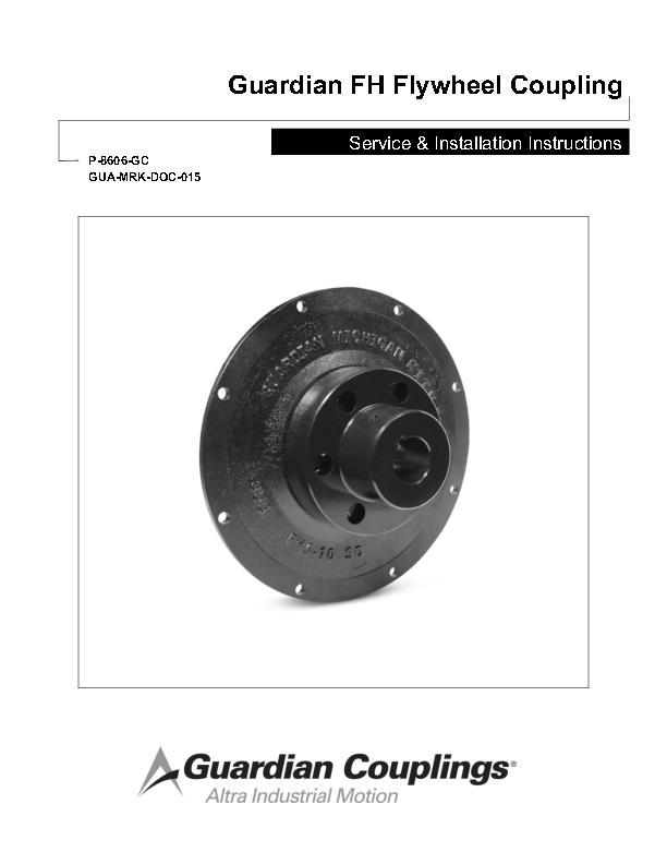 FH Flywheel Coupling Service & Installation Instructions