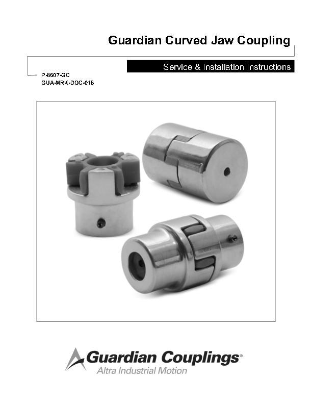 Curved Jaw Coupling Service & Installation Instructions