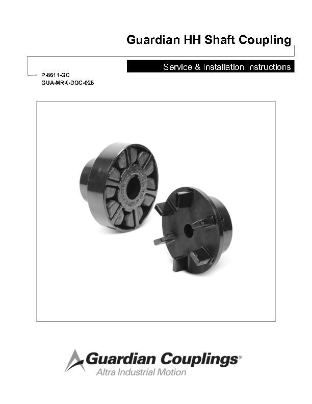 HH Shaft Coupling Service & Installation Instructions